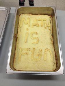 Math is fun written in food